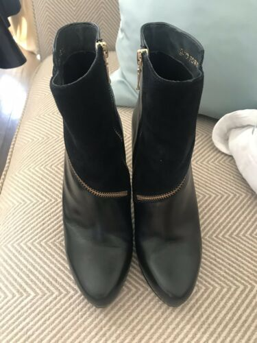 Gino 36 With Boots Side Leather Heel Black 3 Rossi Women's High Zip Szie PnqB0wPr