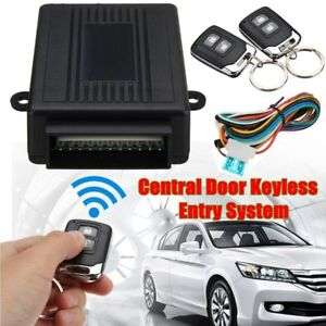 Universal 2 Buttons Car Central Door Lock Locking Keyless Entry System /&2 Remote
