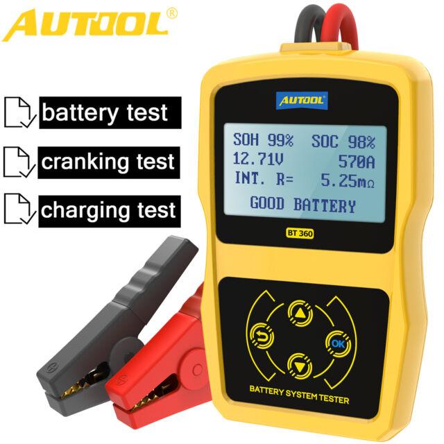 12V Car Battery Tester Analyzer Cranking Charging Test GEL AGM EFB CCA100~2400
