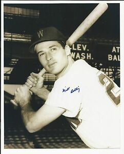 Milt Bolling Washington Senators Signed Auto 8x10 Photo Autograph
