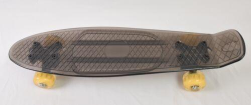 """4K Athlétisme 22/"""" complet en Plastique Transparent Skateboard Avec Lumière DEL wheels"""