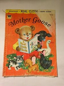 Vintage-1956-Book-Whitman-Publishing-Co-Mother-Goose-A-Real-Cloth-Book-2225-69