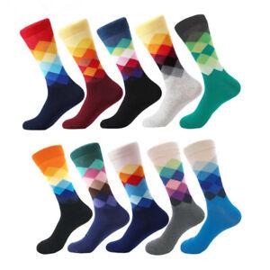 Fashion-Mens-Cotton-Happy-Socks-Warm-Colorful-Diamond-Casual-Dress-Socks-9-11