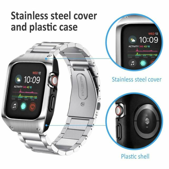 Iwatch Series 5 4 Band Stainless Steel Apple Watch 44mm Case Bracelet Luxury For Sale Online Ebay