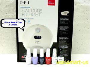 OPI-GelColor-Dual-Cure-LED-Light-GL902-110V-240V-amp-Base-Top-Coat-amp-4-Colors