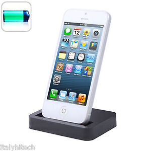 2019 DernièRe Conception Docking Dock Station Usb Da Tavolo Per Iphone Lightning Nera Nuovo Modello Design Moderne
