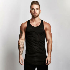 2d52c22a Image is loading Men-039-s-Breathable-Muscle-Vest-Bodybuilding-Stringer-