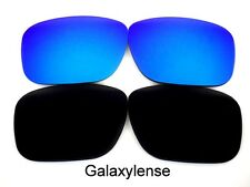 Galaxy Replacement Lenses For Oakley Deviation Black/Blue Polarized 2 Pairs