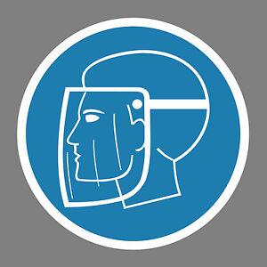 Gesichtsschutz-benutzen-Aufkleber-Sticker-Schild-Hinweis-Verbotsschild