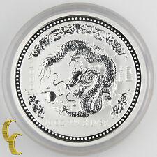 2000 Australia Lunar Year of the Dragon (Series I) BU 10 oz Silver KM#524