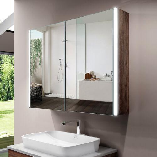 LED Bathroom Mirror Cabinet Sensor Shaver Socket 800x600 illuminated Wall Hung