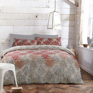 SINGLE DOUBLE QUEEN KING Reversible Quilt Doona Duvet Cover Set by Apartmento