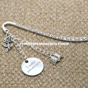 Beauty And The Beast I Want Adventure Charms Silver Bookmark Belle