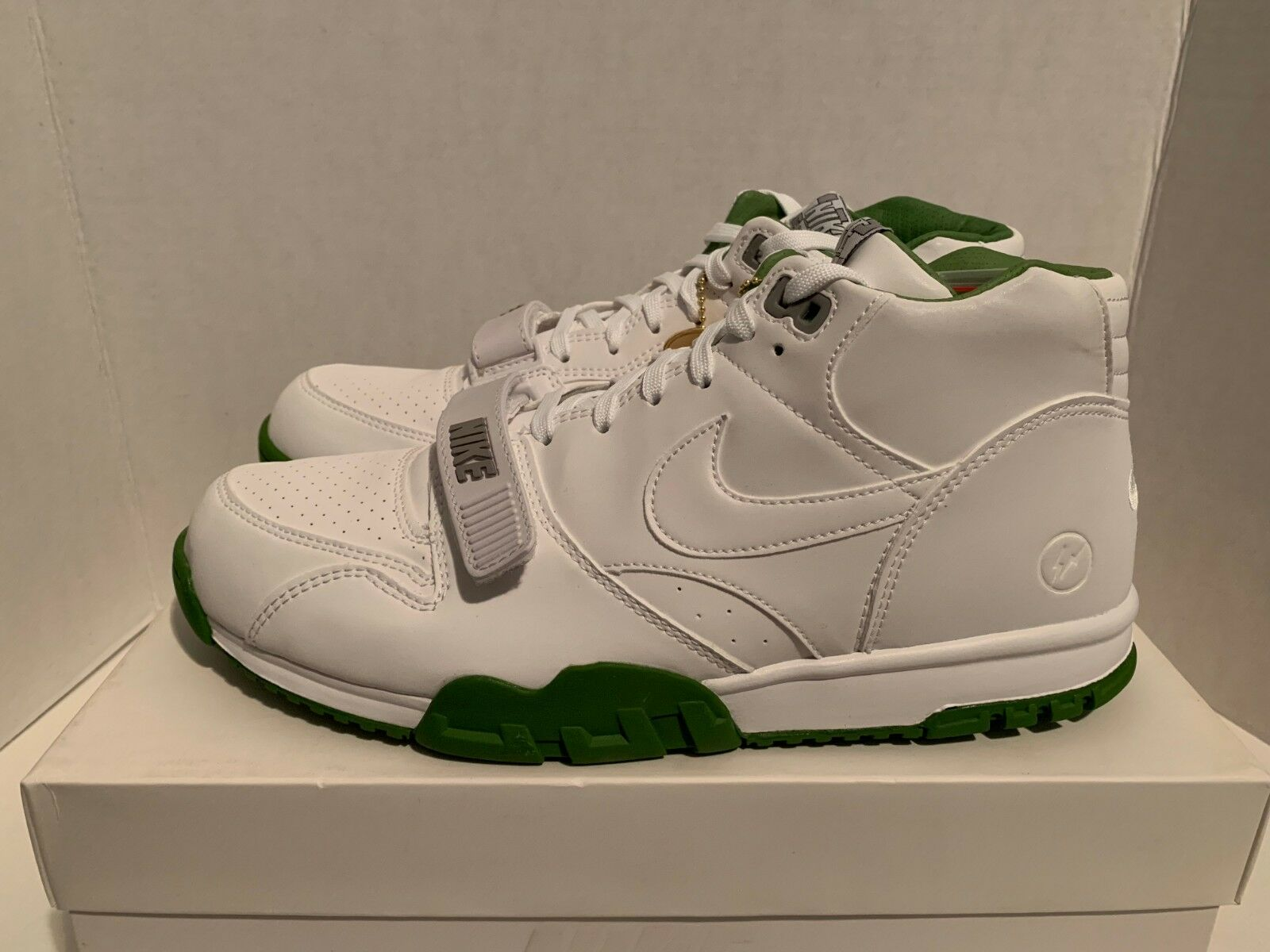 Nike Air Trainer Mid 1 SP Fragment Men's Size 11 White Chlgoldphyll 806942 113