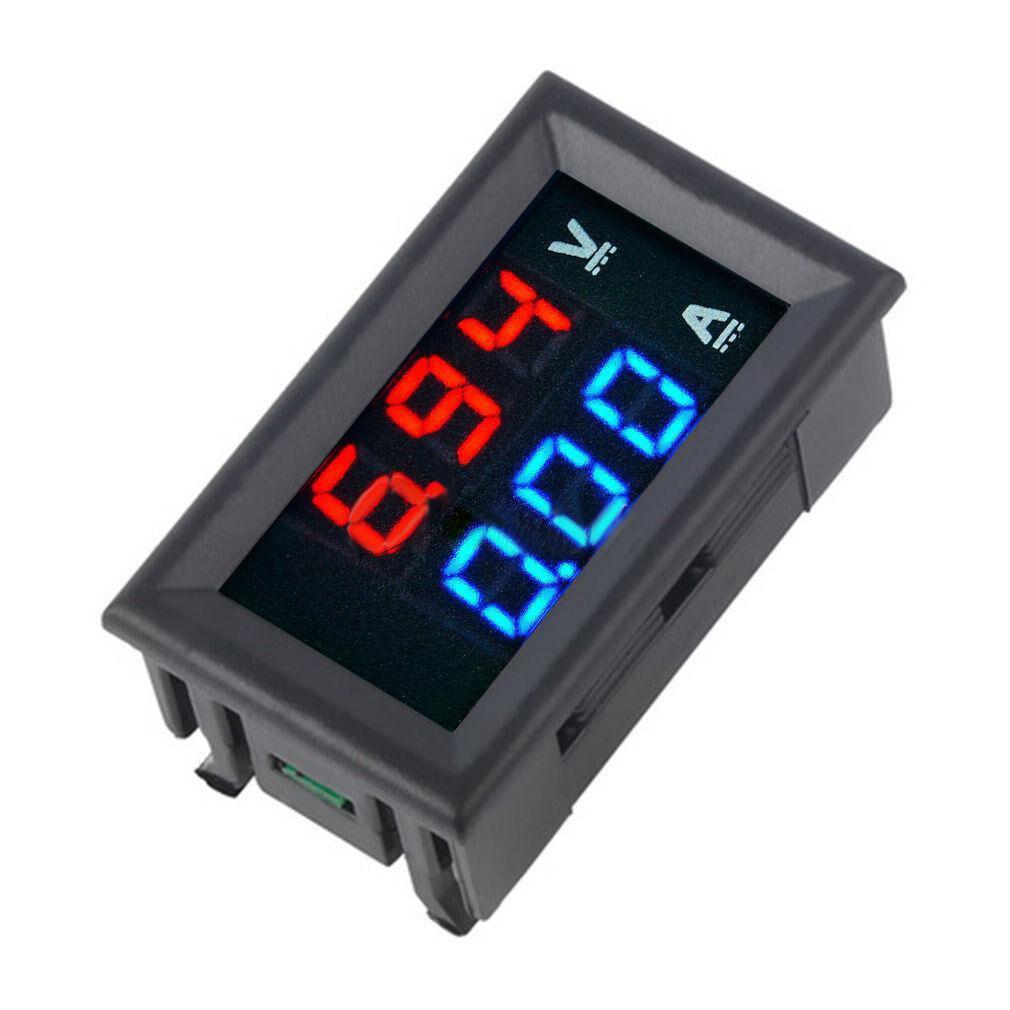 DC 0-100V 10A 1000W LCD Voltm/ètre Num/érique Amp/èrem/ètre Wattm/ètre Tension Courant Puissance M/ètre Volt D/étecteur Testeur Moniteur 12 V 24 V 36 V