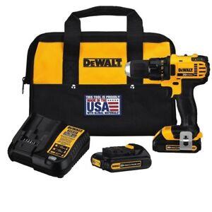 DEWALT-DCD780C2R-1-2-034-20-Volt-Max-20V-Li-Ion-Compact-1-5-Ah-Drill-Driver-w-Bag