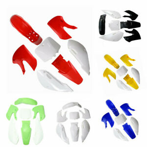 White Body Guard Plastic Fender Kit For KLX110 DRZ 110 KX65 Dirt Bike Motorcycle Motorcycle Body & Frame Motorcycle Parts