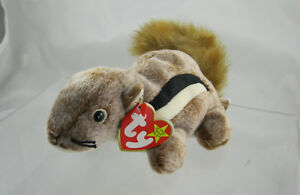 b0706443808 Image is loading Ty-Beanie-Baby-Retired-1999-Chipper-the-Chipmunk-