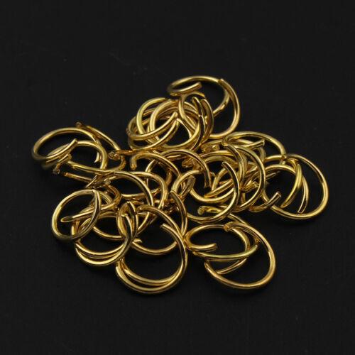 p00576x6 500 ÖSEN BIEGERINGE offen Farbe GOLD 8x0,8mm Spaltringe
