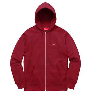 efa466eb3 Supreme SS17 Small Box Zip Up Sweat HOODED JACKET LOGO HOODIE MAROON ...