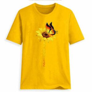Women-Plus-Size-Summer-O-Neck-Sunflower-Print-Short-Sleeve-T-shirt-Blouse-Tops