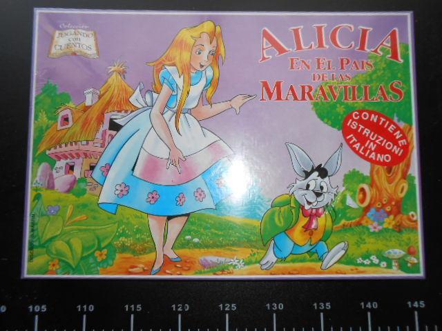 Alice paese meraviglie GIOCO Board Game TAVOLO VINTAGE Wonderland Sealed italian