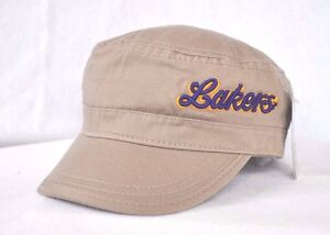 Details about  LOS ANGELES LAKERS  Basketball Military style Army Cadet cap  hat Castro OURAY c8b850a374e