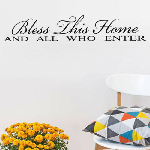 Bless This Home Wall Sticker Family Quote Wall Decal Living Home Decoration