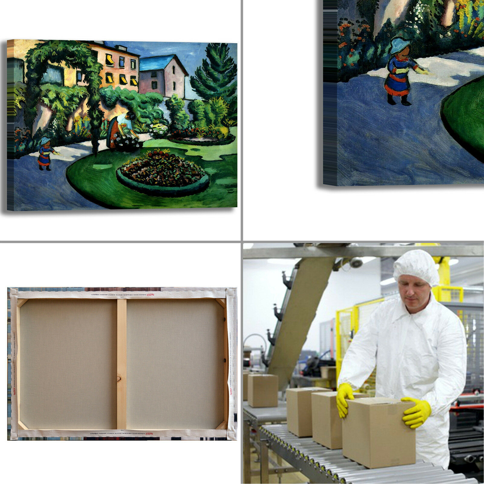 Macke giardino Mackes Mackes giardino Bonn design quadro stampa tela dipinto telaio arRouge o casa 25203a