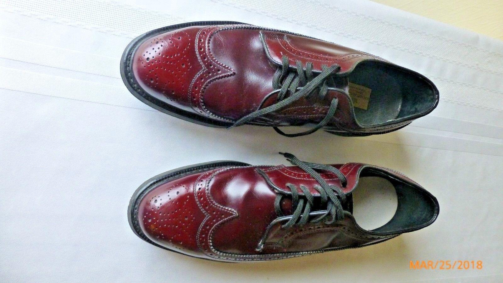 Vintage Stuart McGuire Spring Step Cushion Wingtip shoes Burgundy Size 9 1 2 D