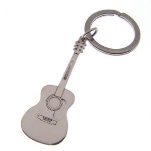 0e7512485 Image is loading SILVER-GUITAR-KEYRING-HALLMARKED-STERLING-SILVER-ELECTRIC- GUITAR-
