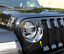 For Jeep Wrangler JL 2018 2019 ABS Chrome Front Head Light Lamp Cover Trim 2pcs