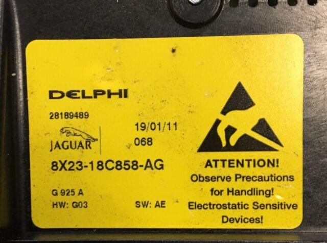 Jaguar XF Delphi Air Conditioning /& Radio Control Console C2Z12822