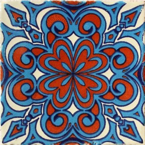 2x2 36 pcs Rosales Talavera Mexican Tile