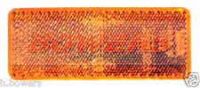 SIDE AMBER ORANGE STICK ON ADHESIVE REFLECTOR RECTANGULAR TRUCK TRAILER CARAVAN