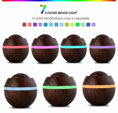 500ml LED Licht Luftbefeuchter Ultraschall Aroma Air Diffuser Humidifier USB