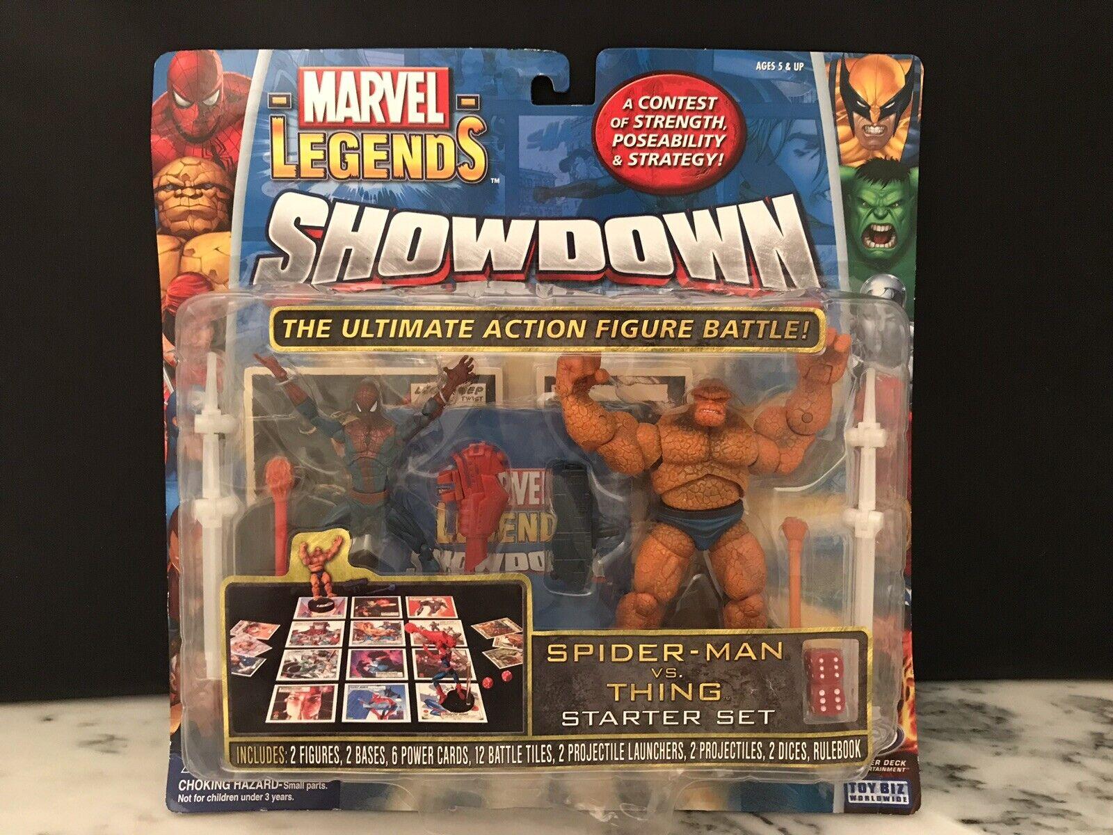 2005 giocattolo Biz SPIDERuomo VS CosaMarvel leggende mostraredown gioco estrellater SetNUOVI