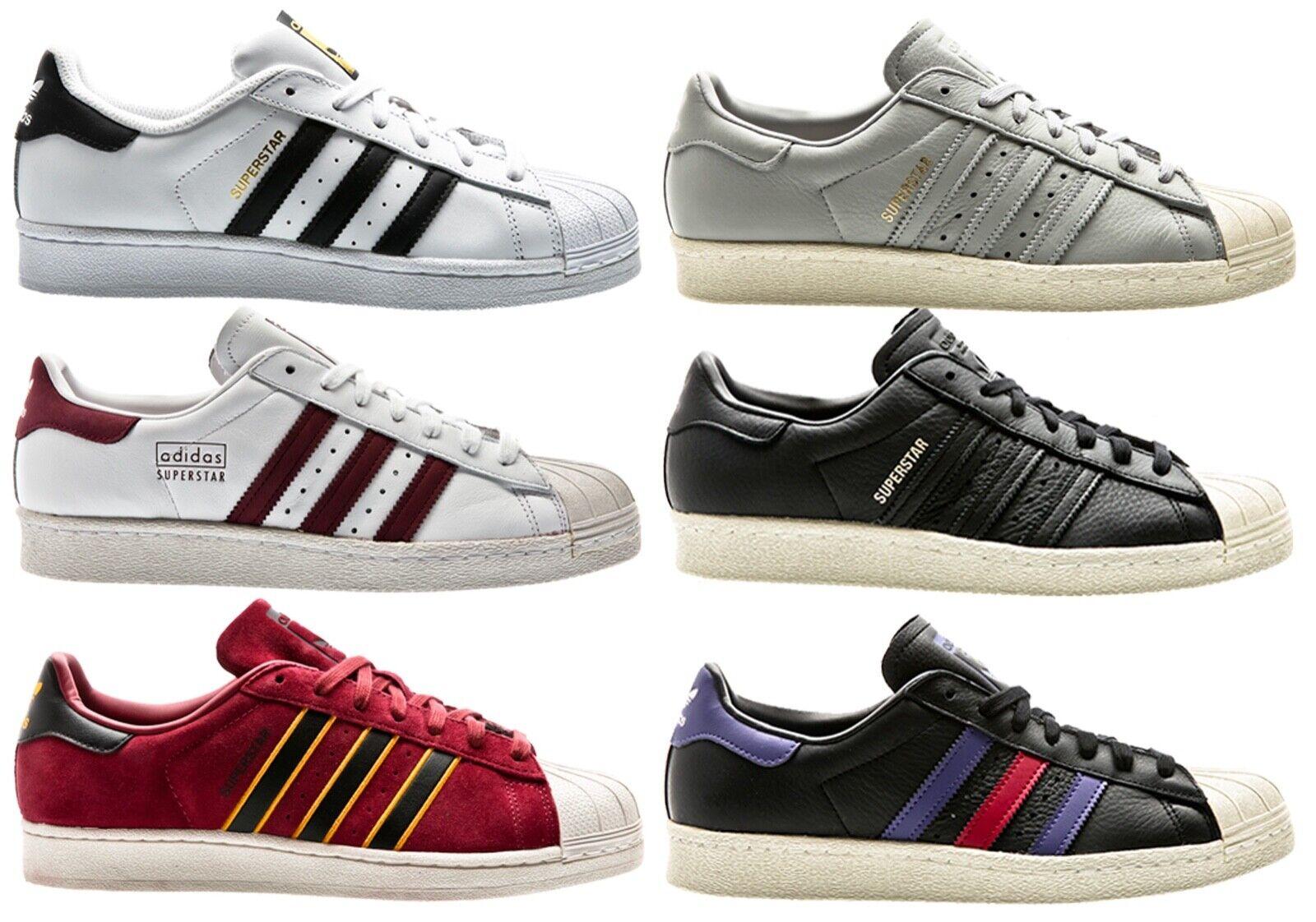 Adidas Superstar 80s Clean Weiß weiss Men Turnschuhe Herren Schuhe schuhe