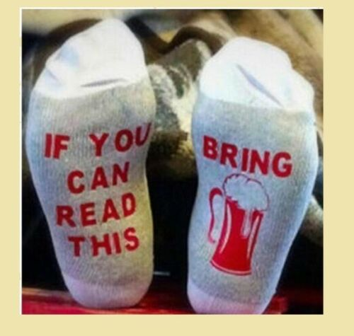 Cotton Unisex If You Can Read This Bring Me Coffee Sock Women Men Funny Socks