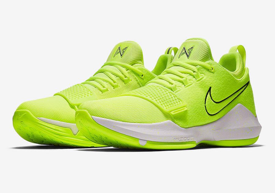 Nike PG 1 Volt/Black/White Men's Basketball Shoes Size 14
