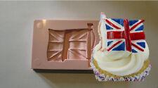 SILICONE MOULD UNION JACK UK ENGLAND ENGLISH FLAG CUPCAKE CAKE RESIN FIMO CLAY