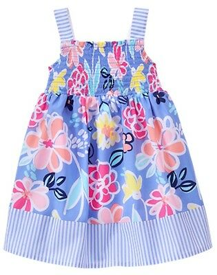 NWT Gymboree Spring Vacation Floral Dress Girls toddler 2T,3T,4T,5T