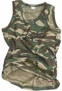Amical Us Tank Top Army Woodland Camouflage Muscle Shirt Tshirt-afficher Le Titre D'origine