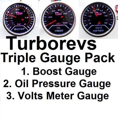 TURBO BOOST OIL PRESSURE VOLT GAUGE VW POLO GTI TDI 18T