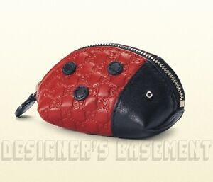 afb1ef6b60f Image is loading GUCCI-red-black-Micro-Guccissima-LADYBUG-Zoo-Collection-