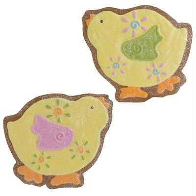 NEW RAZ Easter Yellow Chick Cookie Decoration stands or hang Setof2 CS E3216019