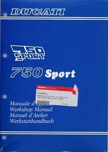 1990-Ducati-750-Sport-91470031A-factory-workshop-manual-BRAND-NEW-ENG-IT-FR-GER