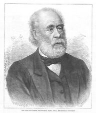 SIR JOSEPH WHITWORTH Mechanical Engineer - Antique Print 1887