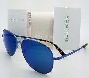 New-Michael-Kors-sunglasses-MK5016-117355-60mm-Black-Blue-Aviator-5016-Kendall-I