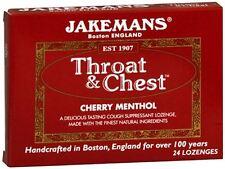 Jakemans Throat - Chest Lozenges Cherry Menthol 24 Each